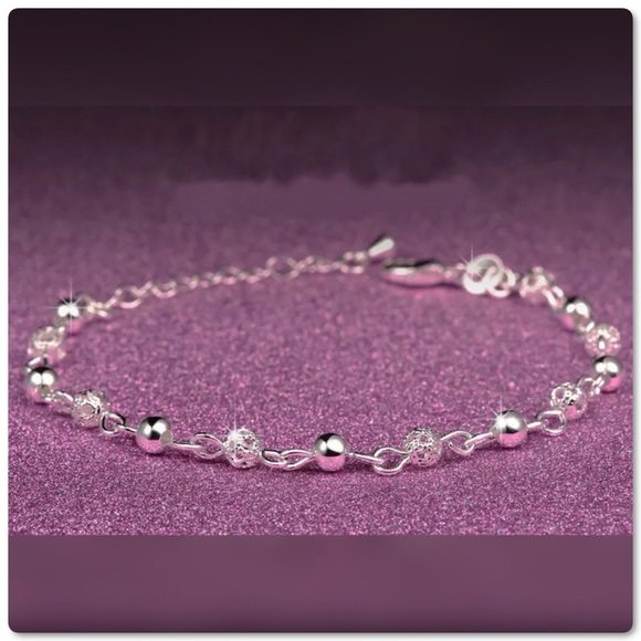 Pretty Girl Swag Jewelry Jewelry - ♨️SALE Silver Scrub Shiny Ball Link Bracelet